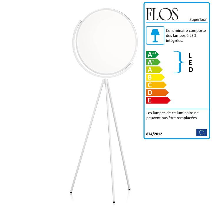 Le lampadaire Flos - Superloon en blanc