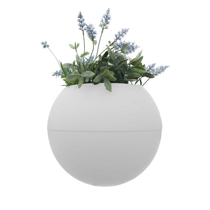 Le pot de fleurs ballcony bloomball de rephorm en blanc