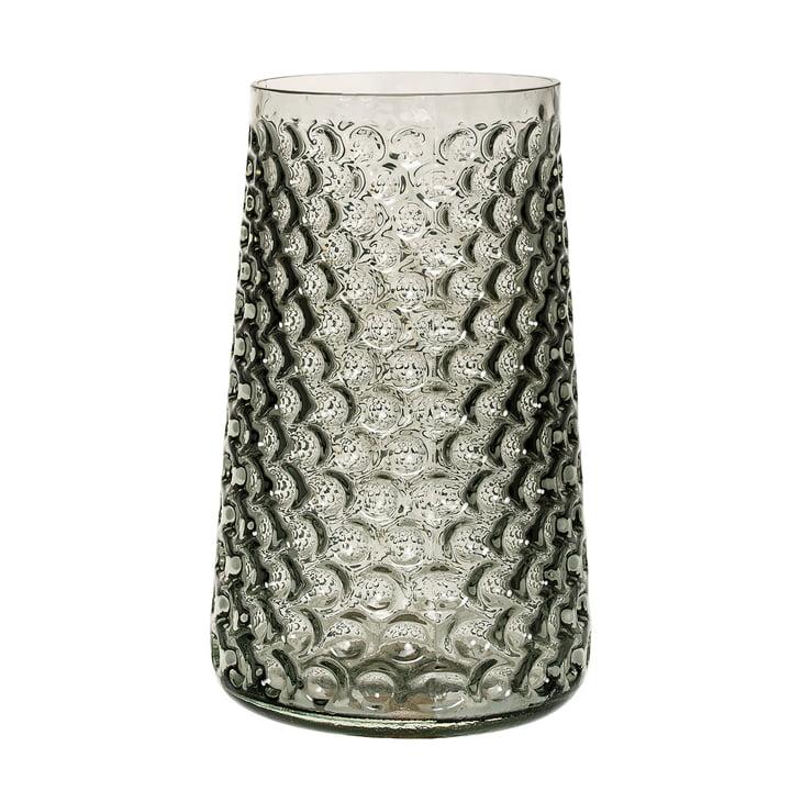 Bloomingville - Vase en verre, gris fumé