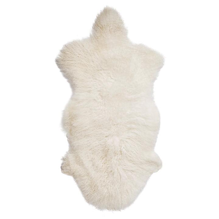 Peau de mouton de Mongolie par Bloomingville en blanc