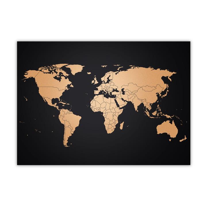 Awesome Maps - Copper Map, cuivré/noir