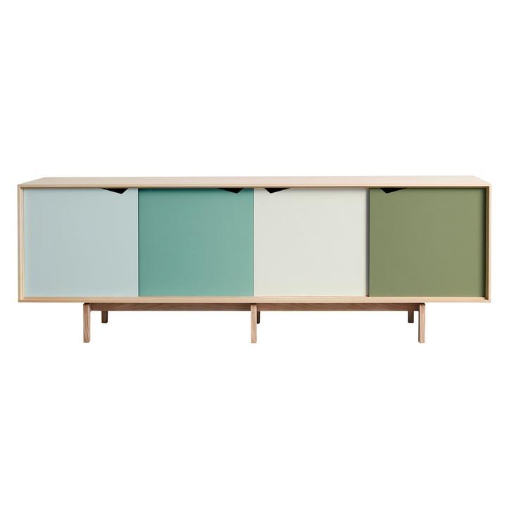 Buffet S1 d'Andersen Furniture en chêne savonné (portes Dali, Capri, Alpino, Pale Olive)