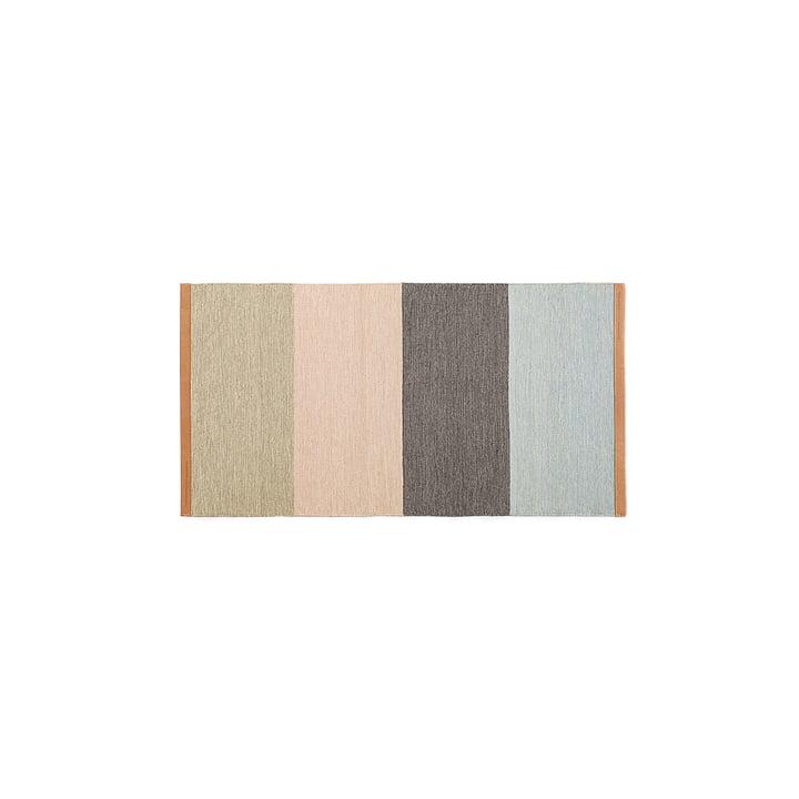 Design House Stockholm - Tapis de couloir Fields 70x130cm, beige/rose/marron/bleu