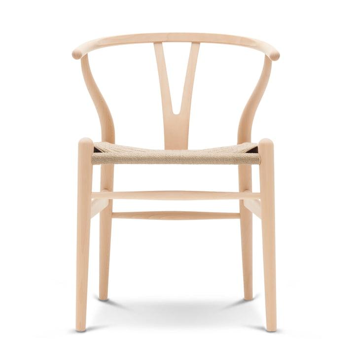 CH24 Wishbone Chair en hêtre Carl Hansen savonné / vannerie naturelle