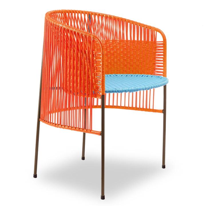 ames - caribe Dining Chair, orange / turquoise / marron