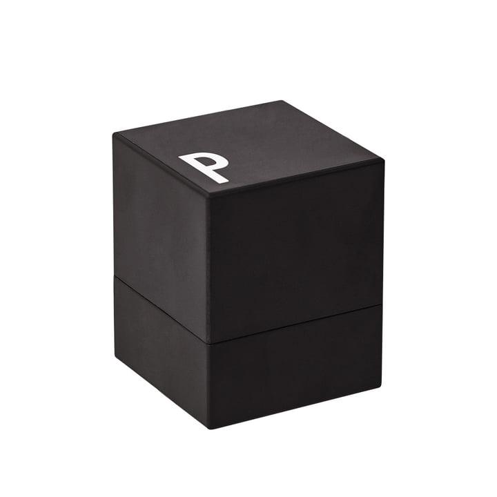 Poivrière de Design Letters en noir