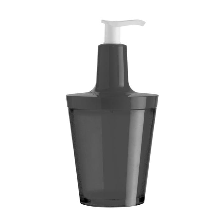 Koziol - Distributeur de savon Flow, noir transparent