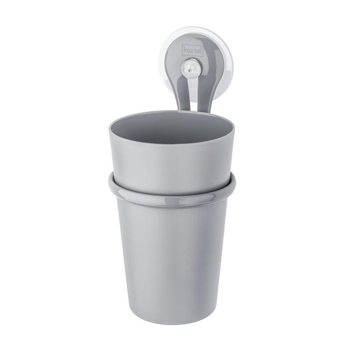 Koziol - Porte brosse à dents Loop, gris métallisé
