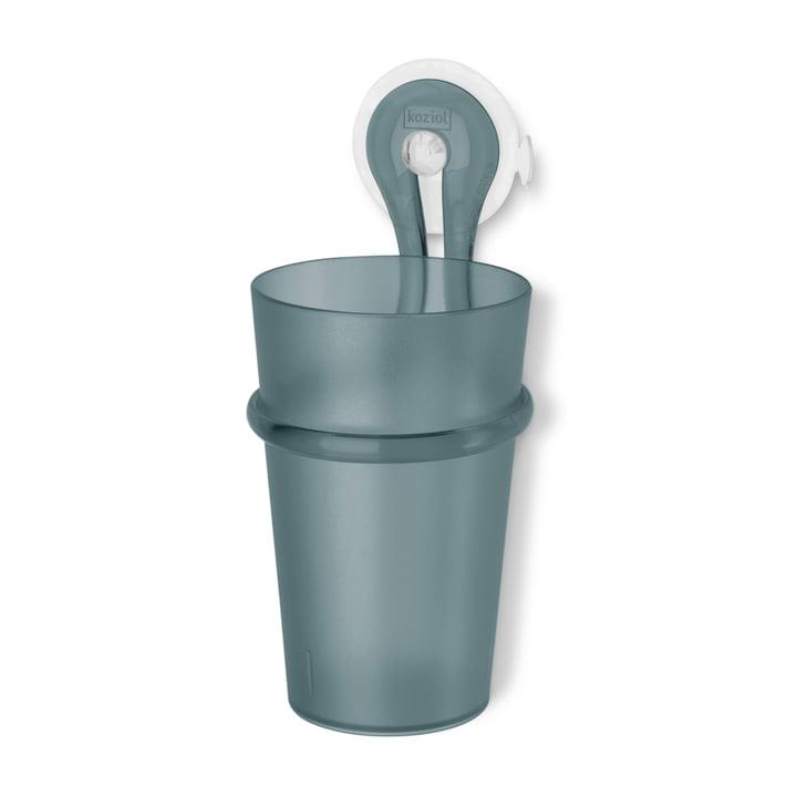 Koziol - Gobelet à brosse à dents Loop anthracite transparent