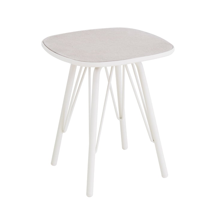 Table Lyze 40x40cm d'Emu en blanc