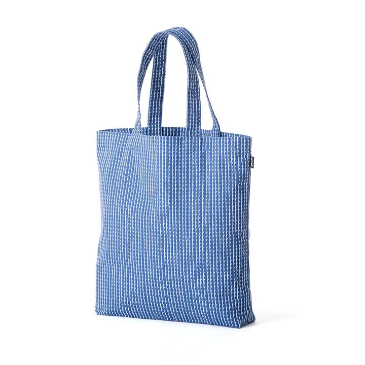 Sac en tissu Rivi par Artek en bleu/blanc
