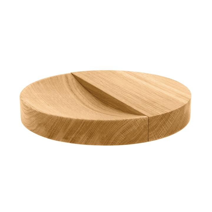 Coupe en bois massif Split Bowl, chêne naturel huilé de Schönbuch en chêne naturel huilé