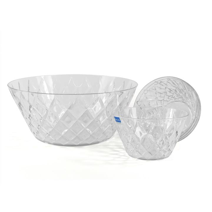 Set de saladiers en cristal 5pièces de Koziol en transparent
