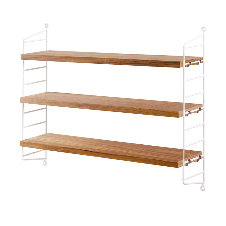 String Wall Shelf with Delicate Panels
