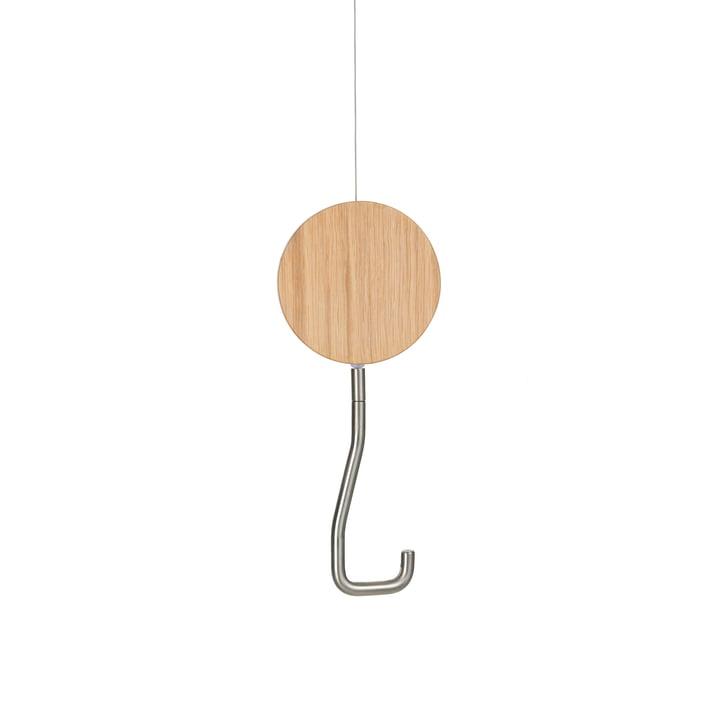 Snap Crochet-portemanteau plafond en chêne blanc brossé mat par Schönbuch