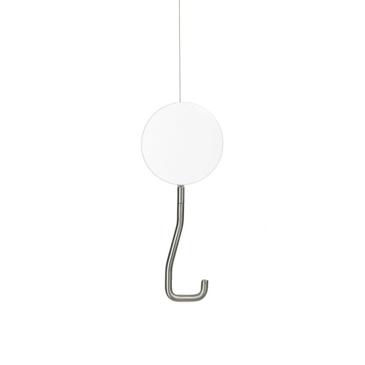 Crochet-portemanteau de plafond Snap en blanc neige (RAL 9016)