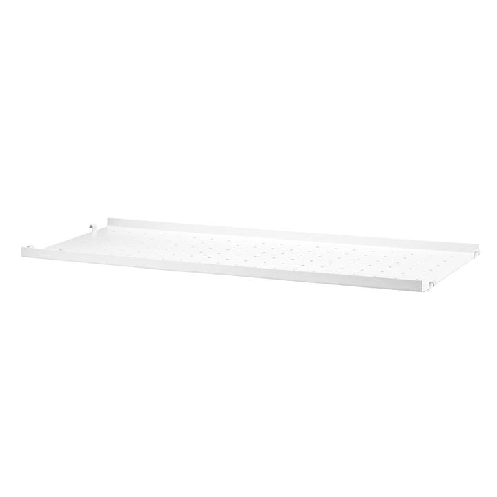 Étagère en métal avec petit rebord 78x30cm de String en blanc