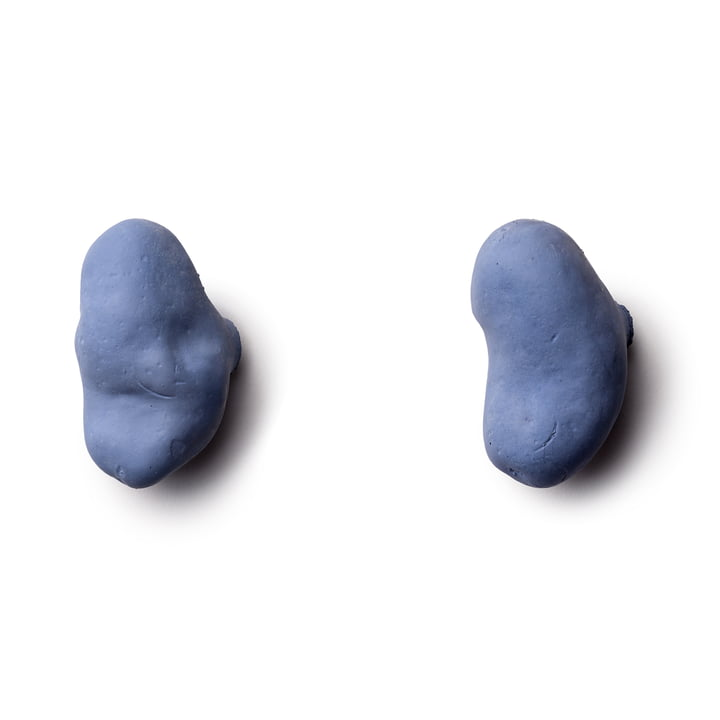 Patères Tubercule (lot de 2) de Petite Friture en bleu