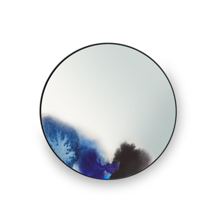 Petit miroir mural Francis de Petite Friture en bleu