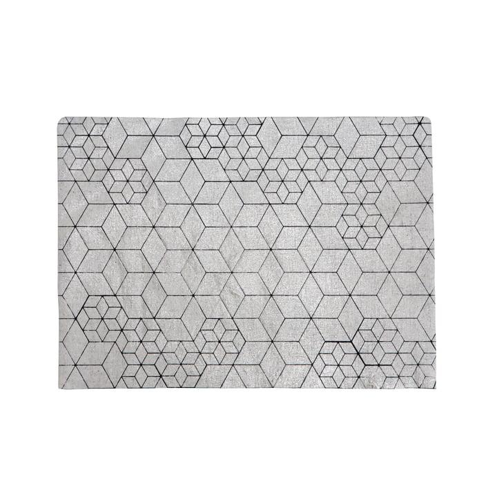 Mika Barr - Set de table Tin, 50 x 40 cm, argent / noir