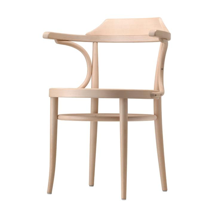 Chaise en bois courbé 233 par Thonet en hêtre clair (TP 107) avec cannage