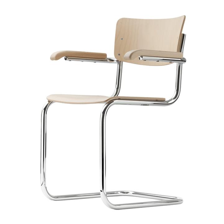 Chaise S 43 F de Thonet en chrome / hêtre naturel (TP 17)