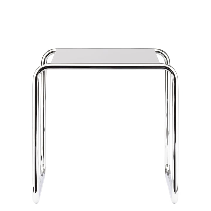 Table gigogne B 9 de Thonet en chrome / laque de finition en blanc pur (RAL 9010)