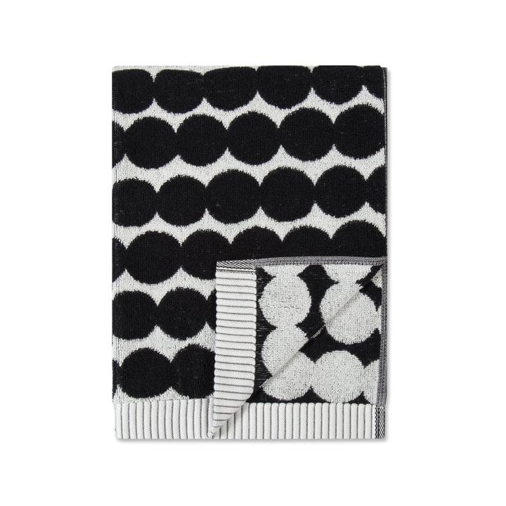 Serviette Räsymatto 50 x 100 cm de Marimekko en noir