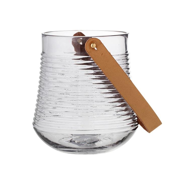 Lanterne en verre H17cm par Bloomingville en transparent