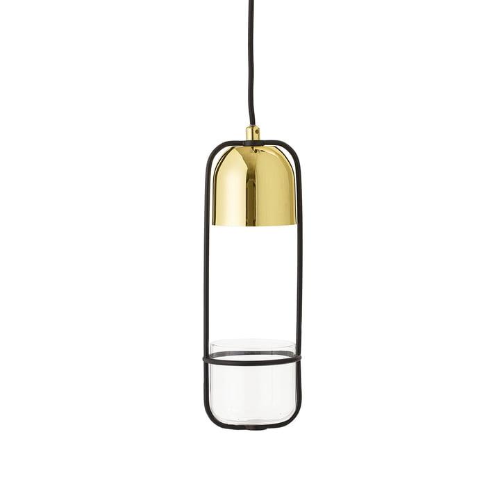 La suspension lumineuse-Pot de fleurs de Bloomingville en métal/doré