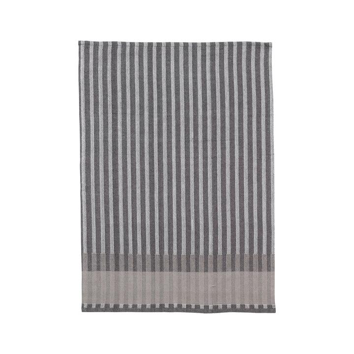 Torchon Jacquard grain de blé de Ferm Living in grey