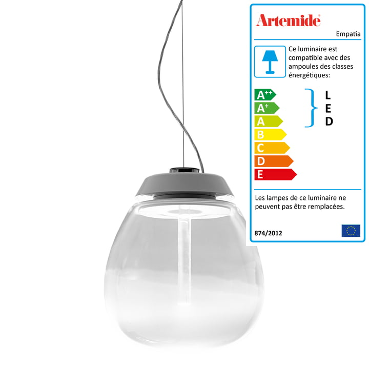 Artemide - Suspension lumineuse Empatia 16 Sospensione, blanc