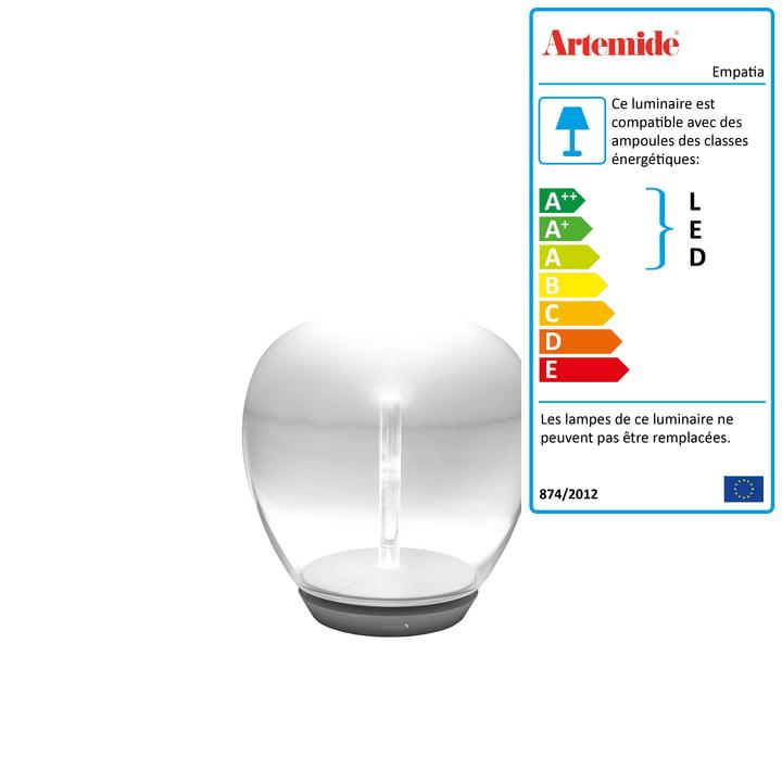 Artemide - Lampe de table à LED Empatia 16 Tavolo, blanc
