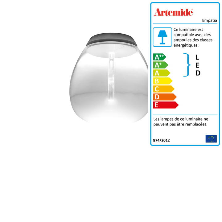 Artemide - Plafonnier 16 LED Empatia Soffitto, blanc