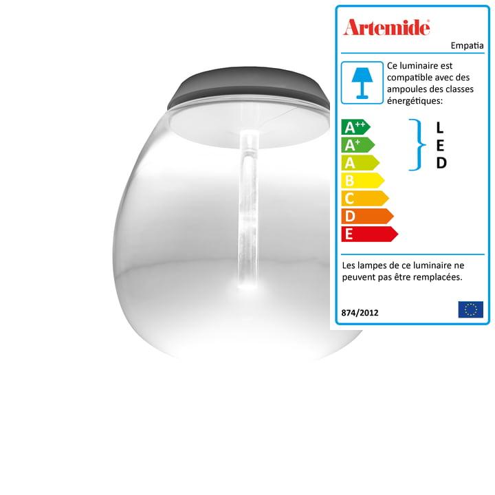 Artemide - Plafonnier 26 LED Empatia Soffitto, blanc