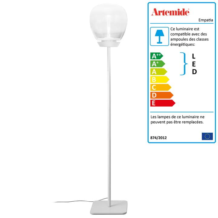 Artemide - Lampadaire Empatia 26 Terra LED, blanc