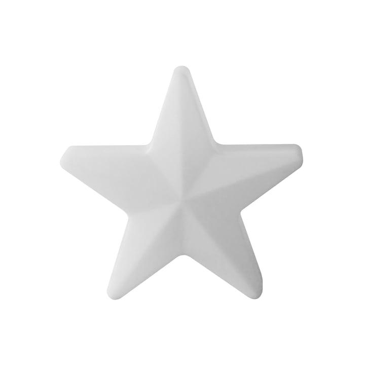 Moree - étoile de Noël LED Star 40, sans fil, blanc translucide