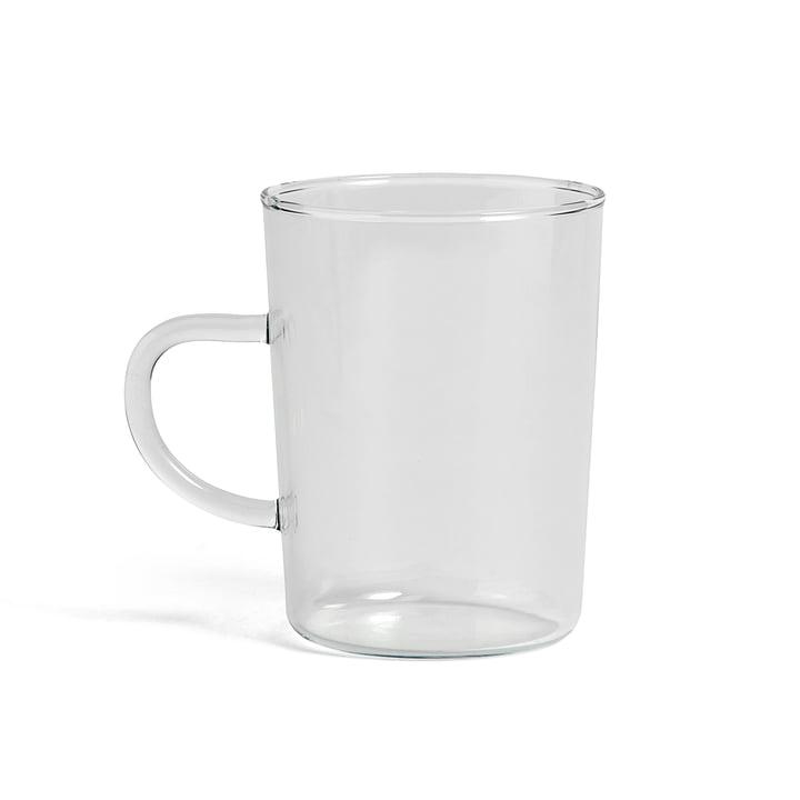 Tasse à thé en verre transparent de Hay