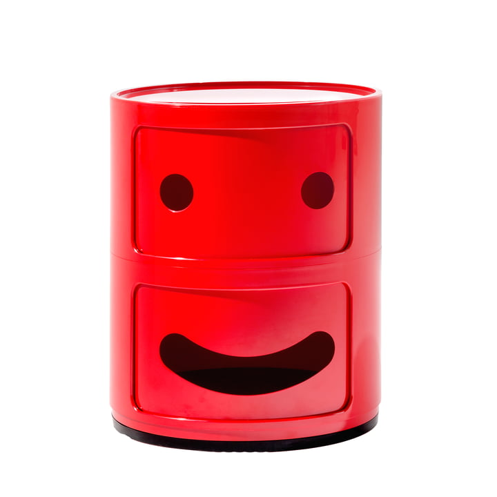 Kartell - Componibili Smile 4924, rouge