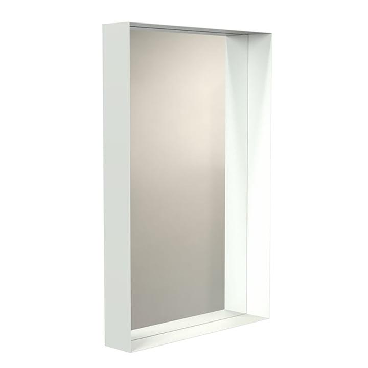 Frost - Miroir mural Unu avec cadre en blanc