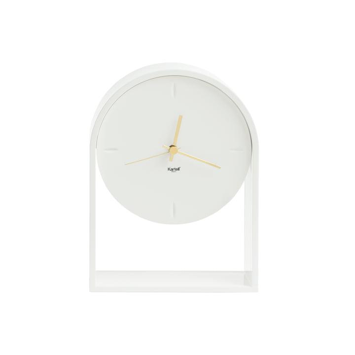 Kartell - l'horloge de table Air du Temps en blanc