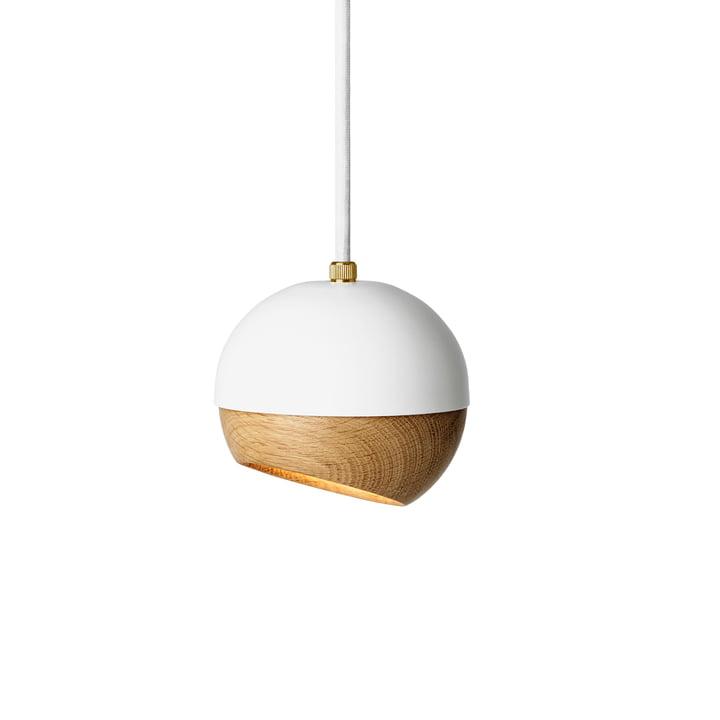 Suspension lumineuse Ray Ø 11,9 cm de Mater en blanc