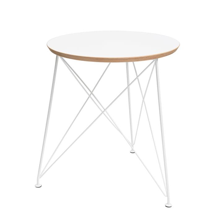 Brace - Table d'appoint ronde avec armature en acier