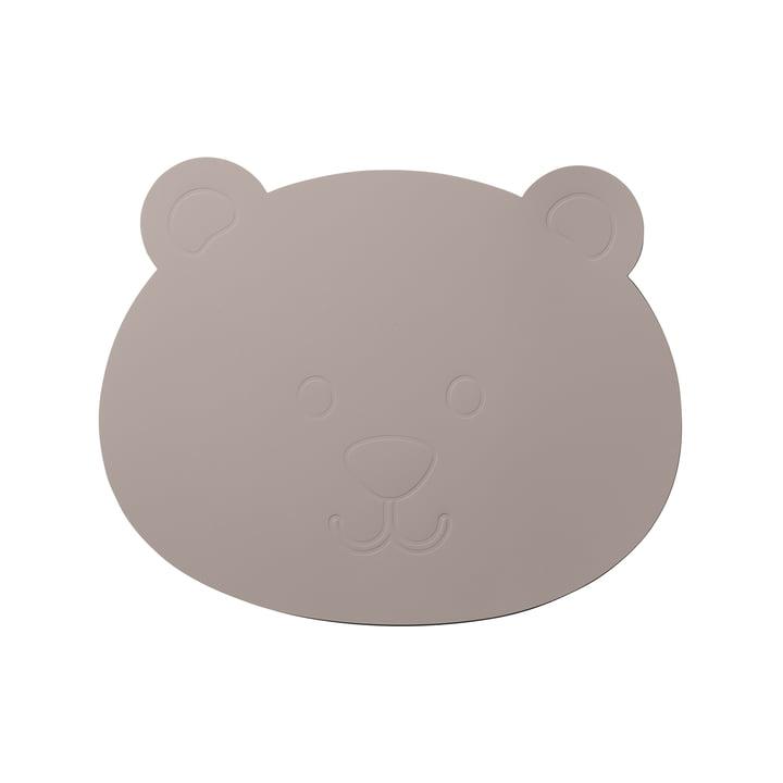 The LindDNA - Ensemble de table enfant ours en Softbuck gris cool
