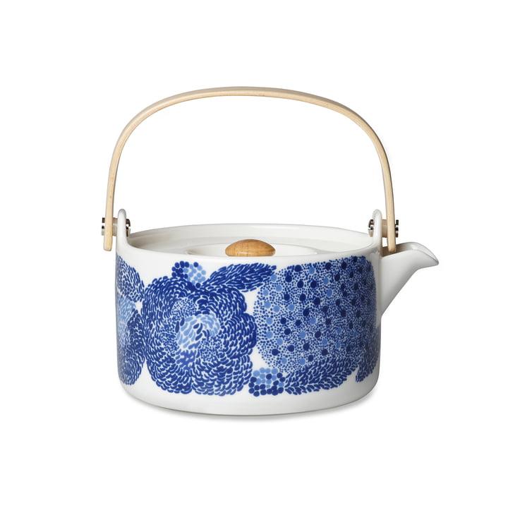Théière Oiva Mynsteri de Marimekko en bleu / blanc