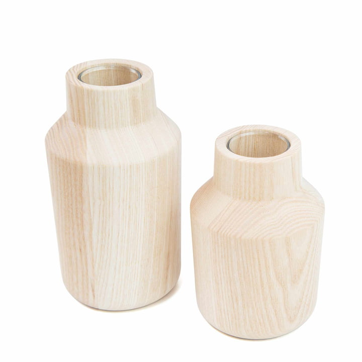 kommod - le vase Klava, frêne (set de 2)
