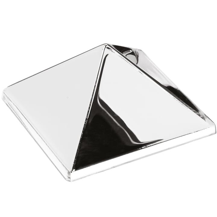 Verpan - Sculptures miroir, 1 pyramide, miroir / argent