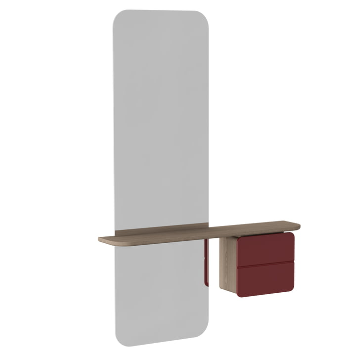 Umage - Miroir One More Look, ruby red