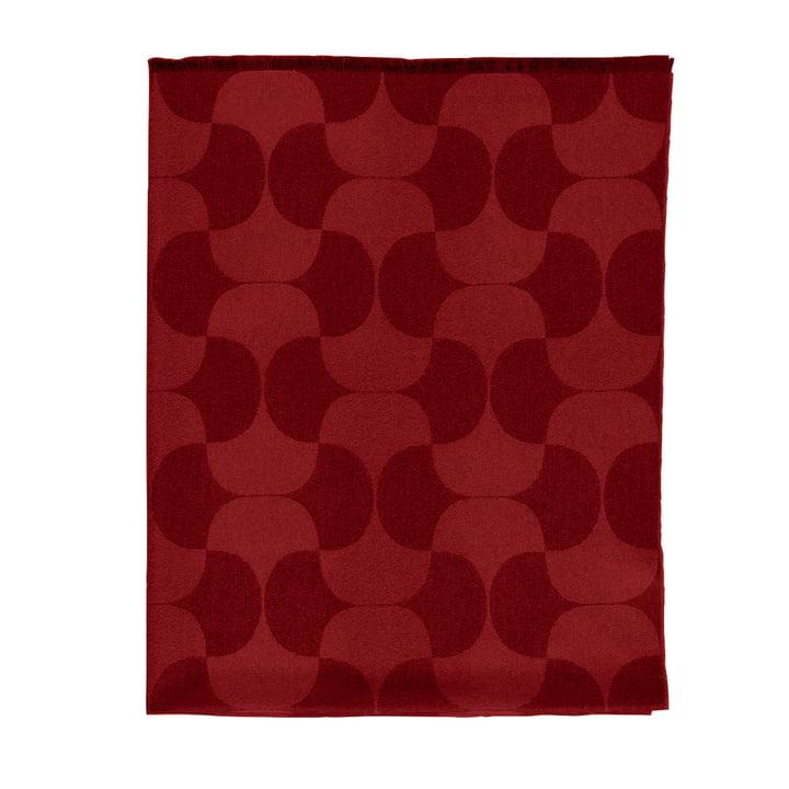 Verpan - Couverture en laine Polette, 175x135cm, bordeaux