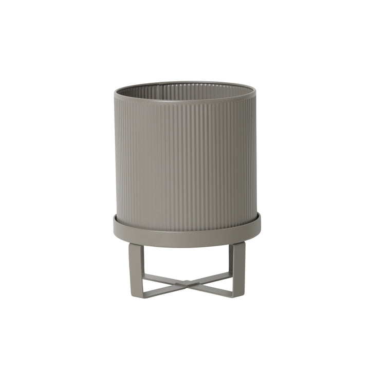 Cache-pot Bau, Ø 18 x H 24cm de ferm Living en gris chaud